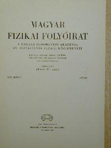 Daróczy Sándor - Magyar Fizikai Folyóirat XIX. kötet 4. füzet [antikvár]