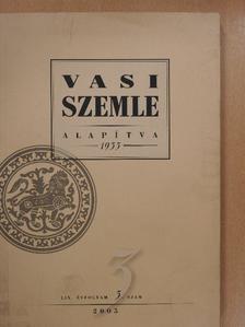 Bariska István - Vasi Szemle 2005/3. [antikvár]