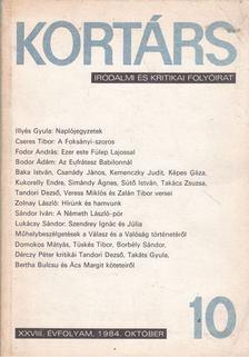 SZÁRAZ GYÖRGY - Kortárs XXVIII. évf. 1984 10. szám [antikvár]