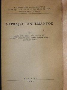Bárczi Géza - Néprajzi tanulmányok [antikvár]