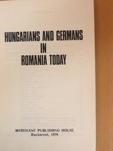 Andreas Weingärtner - Hungarians and Germans in Romania today [antikvár]