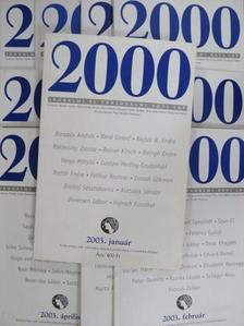 Aczél Géza - 2000 2003. január-december [antikvár]