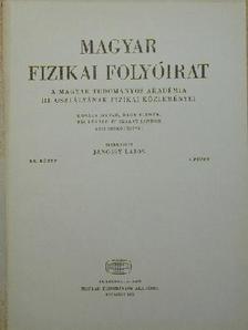 Ádám András - Magyar Fizikai Folyóirat XX. kötet 4. füzet [antikvár]
