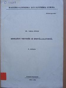 Dr. Varga Sándor - Munkaügyi tervezés az iparvállalatoknál [antikvár]