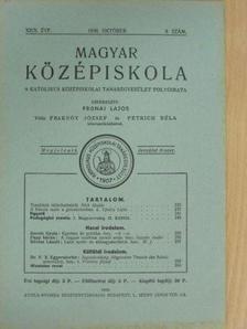 Kornis Gyula - Magyar Középiskola 1936. október [antikvár]
