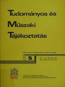 Kruchina Ottó - Tudományos és Műszaki Tájékoztatás 1983. május [antikvár]