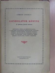 Alexandre Dumas Fils - Gondolatok könyve (dedikált példány) [antikvár]