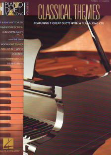 PIANO DUET PLAY-ALONG VOLUME 40: CLASSICAL THEMES FOR PIANO 4 HANDS WITH PLAY-ALONG CD!