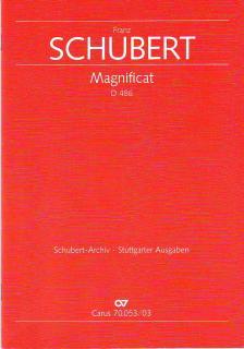 SCHUBERT - MAGNIFICAT D 486 FÜR SOLI, CHOR UND ORCHESTER, KLAVIERAUSZUG (MARJA VON BARGEN & SALOME REISER)
