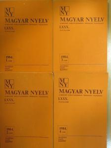 Budai László - Magyar Nyelv 1984/1-4. [antikvár]
