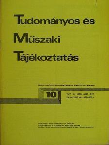 Havasi Zoltán - Tudományos és Műszaki Tájékoztatás 1982. október [antikvár]