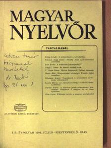 Bogár Edit - Magyar Nyelvőr 1991. július-szeptember [antikvár]
