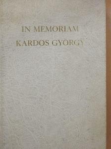 Agárdi Péter - In memoriam Kardos György [antikvár]