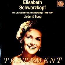 SCHUBERT, SCHUMANN, BRAHMS, WAGNER - UNPUBLISHED LIEDER & SONG CD ELISABETH SCHWARZKOPF