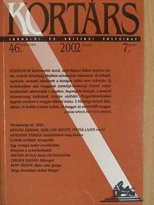 Báger Gusztáv - Kortárs 2002. július [antikvár]