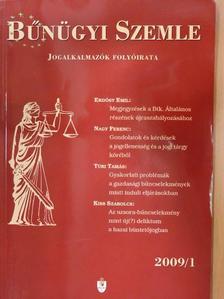 Benedek Ferenc - Bűnügyi Szemle 2009/1. [antikvár]