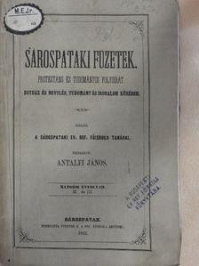 Fábián Mihály - Sárospataki Füzetek 1862. március 3. [antikvár]
