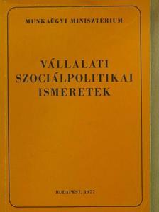 Dr. Borli Károly - Vállalati szociálpolitikai ismeretek [antikvár]