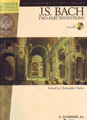 J. S. Bach - TWO-PART INVENTIONS FOR PIANO CD INCLUDED, EDITED BY CHRISTOPHER TAYLOR