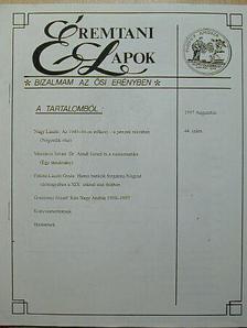 Fekete László Gyula - Éremtani Lapok 1997. augusztus [antikvár]