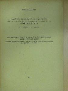 Molnár Erik - Az abszolutizmus gazdasági és társadalmi alapja Európában [antikvár]