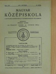 Dr. Galamb Ödön - Magyar Középiskola 1937. október [antikvár]