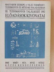 Balogh József - Magyarok szerepe a világ természettudományos és műszaki haladásában III. [antikvár]