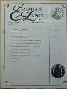 Bertók Krisztina - Éremtani Lapok 1998. április [antikvár]