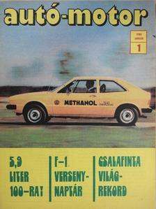 Almássy Tibor - Autó-Motor 1980. január [antikvár]