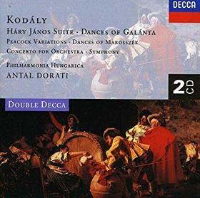Kodály Zoltán - DANCES OF GALÁNTA - HÁRY JÁNOS SUITE CD DORÁTI ANTAL