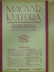 Bangha Béla S. J. - Magyar Kultúra 1934. október 5. [antikvár]