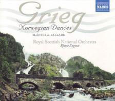 GRIEG - NORWEGIAN DANCES, BALLADE, SLATTER CD ENGESET, ROYAL SCOTTISH NATIONAL ORCH