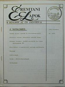 Bóna Endre - Éremtani Lapok 1992. december [antikvár]