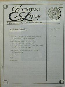Gosztonyi József - Éremtani Lapok 1993. április [antikvár]