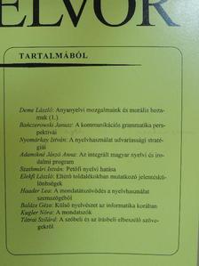 Adamikné Jászó Anna - Magyar Nyelvőr 1998. július-szeptember [antikvár]
