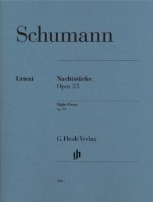Schumann, Robert - NACHTSTÜCKE OP.23 FÜR KLAVIER URTEXT (HERTTRICH/LAMPE)