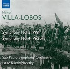 VILLA-LOBOS - SYMPHONY NO.3 'WAR' -  SYMPHONY NO.4 ' VICTORY ' CD