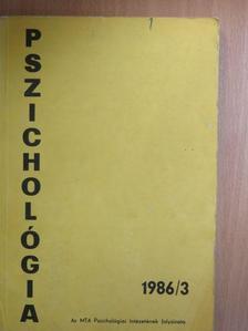 Bánfai Beáta - Pszichológia 1986/3. [antikvár]