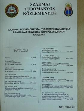 Dr. Beszteri Béla - Szakmai Tudományos Közlemények 2001. május 23. [antikvár]