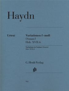 HAYDN J. - VARIATIONEN f-MOLL (SONATE) HOB. XVII:6 FÜR KLAVIER URTEXT (SONJA GERLACH)
