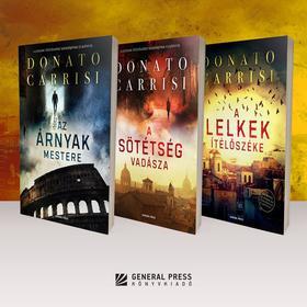 Donato Carrisi - Donato Carrisi - könyvcsomag (A lelkek ítélőszéke, A sötétség vadásza, Az árnyak mestere)