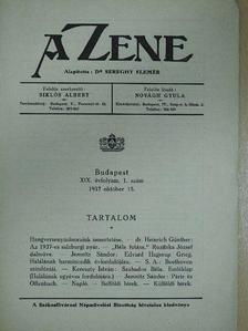 Dr. Heinrich Günther - A Zene 1937. október 15. [antikvár]