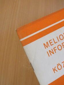 Ács Vilmos - Meliorációs információk és közlemények 1973. Különszám [antikvár]