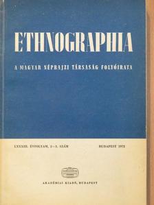 Balassa Iván - Ethnographia 1972/2-3. [antikvár]