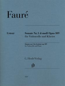 FAURÉ - SONATE NR.1 d-MOLL OP.109 FÜR VIOLONCELLO UND KLAVIER