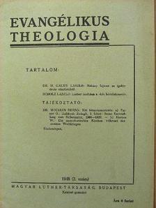 Dr. H. Gaudy László - Evangélikus theologia 1948. 2. szám [antikvár]