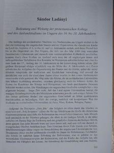 Ladányi Sándor - Bedeutung und Wirkung der protestantischen Kollegs und des Auslandstudiums im Ungarn des 16. bis 18. Jahrhunderts [antikvár]
