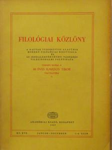 Benedek Nándor - Filológiai Közlöny 1969. január-december [antikvár]