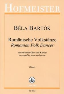 Bartók Béla - RUMAENISCHE VOLKSTAENZE. BEARB. FÜR OBOE UND KLAVIER (TUNS)