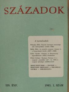 Bellér Béla - Századok 1985/1. [antikvár]